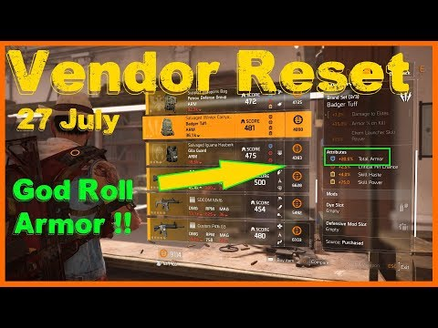 Repeat The Division 2 | Weekly Vendor Reset 27 July | 20 5