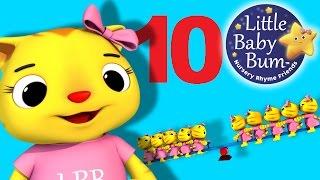 Ten Little Animals | Numbers Song | Nursery Rhymes | by LittleBabyBum!
