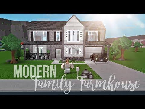 Bloxburg Modern Family Farmhouse 44k Youtube