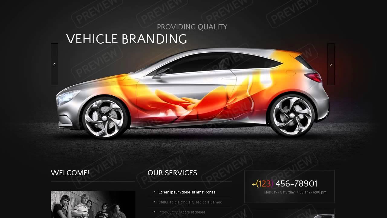Vehicle Branding Website Template Youtube