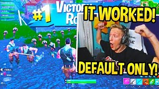 "TFUE 'CRIES OF LAUGHTER' PLAYING ""DEFAULT SKIN WARS"" à Fortnite!"
