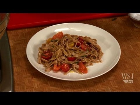 Whole Wheat Pasta w/ Raw Tomato Vinaigrette: Slow Food Fast with Kitty Greenwald