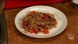 Whole Wheat Pasta W/ Raw Tomato Vinaigrette: Slow Food Fast With Kitty Greenwald