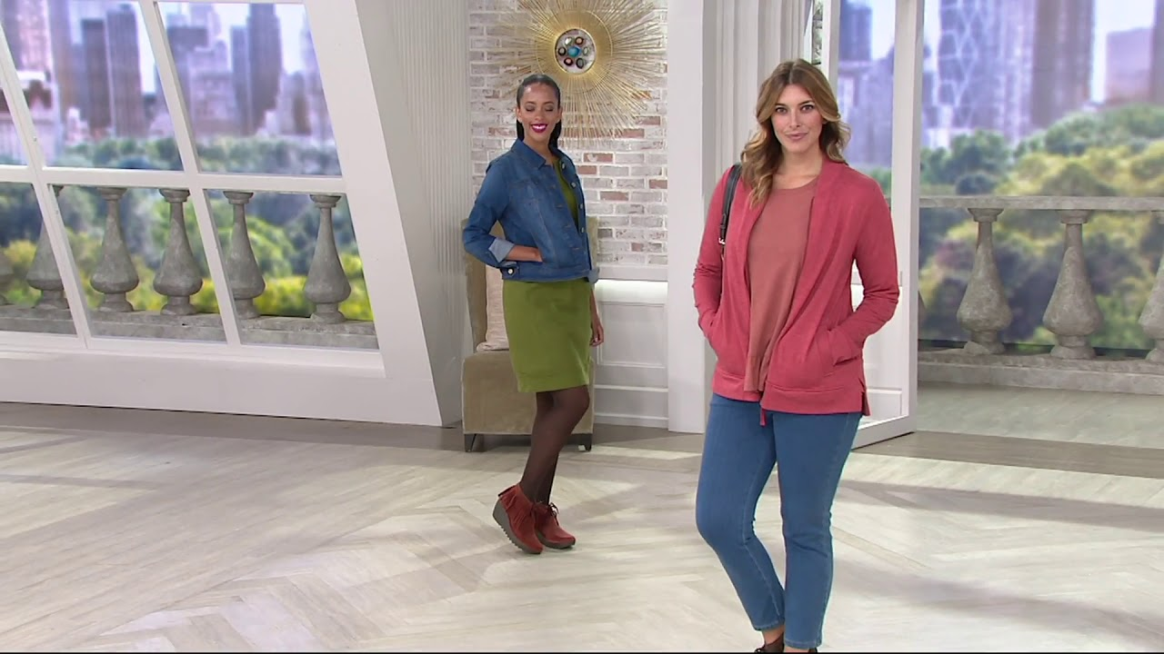 watch look for sleek FLY London Suede Wedge Fringe Lace-up Ankle Boots - Yank on QVC ...