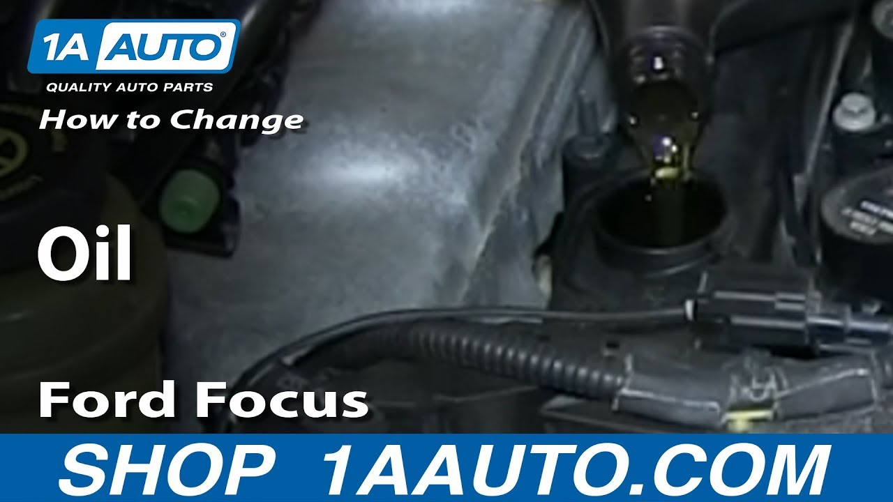 How To Change Oil 2000 07 Ford Focus Youtube