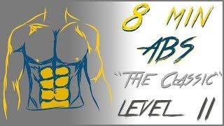 Bauchmuskeltraining in 8 Minuten Niveau 2 - No Music
