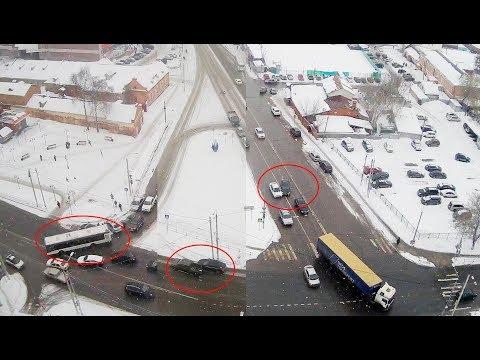 ДТП в Серпухове. Три аварии друг за другом.. 15 марта 2018г.