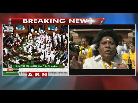 MPs Protest  In Lok Sabha Against Union Budget 2018