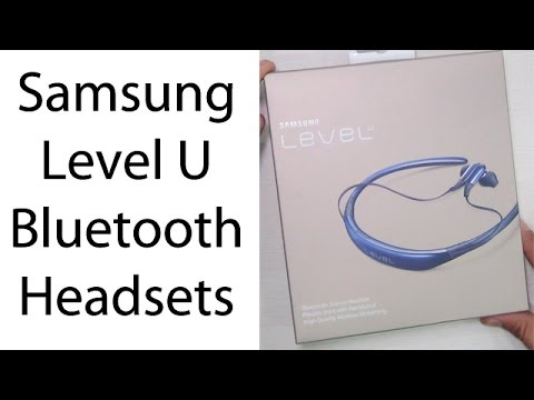 Samsung Level U Bluetooth Stereo Headset Unboxing Overview Youtube