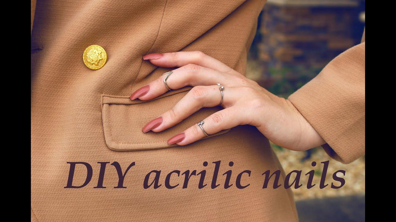 როგორ გავიკეთოთ აკრილის ფრჩხილები სახლში/DIY acrylic nails Nanka Rusalka