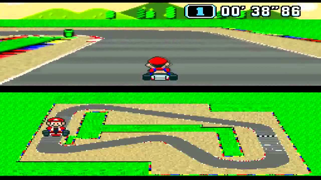 super mario kart snes mario circuit 1 youtube. Black Bedroom Furniture Sets. Home Design Ideas