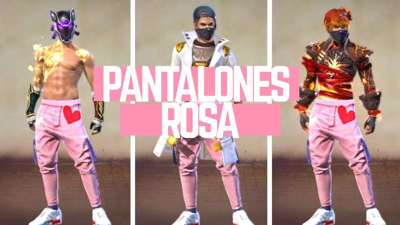 Mejores Combinaciones Pantalones Rosa Free Fire Youtube