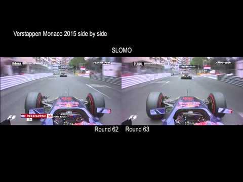 Max Verstappen   Crash Monaco 2015 side by side