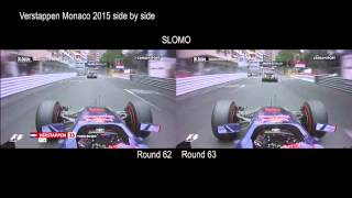 Max Verstappen   Crash Monaco 2015 side by side