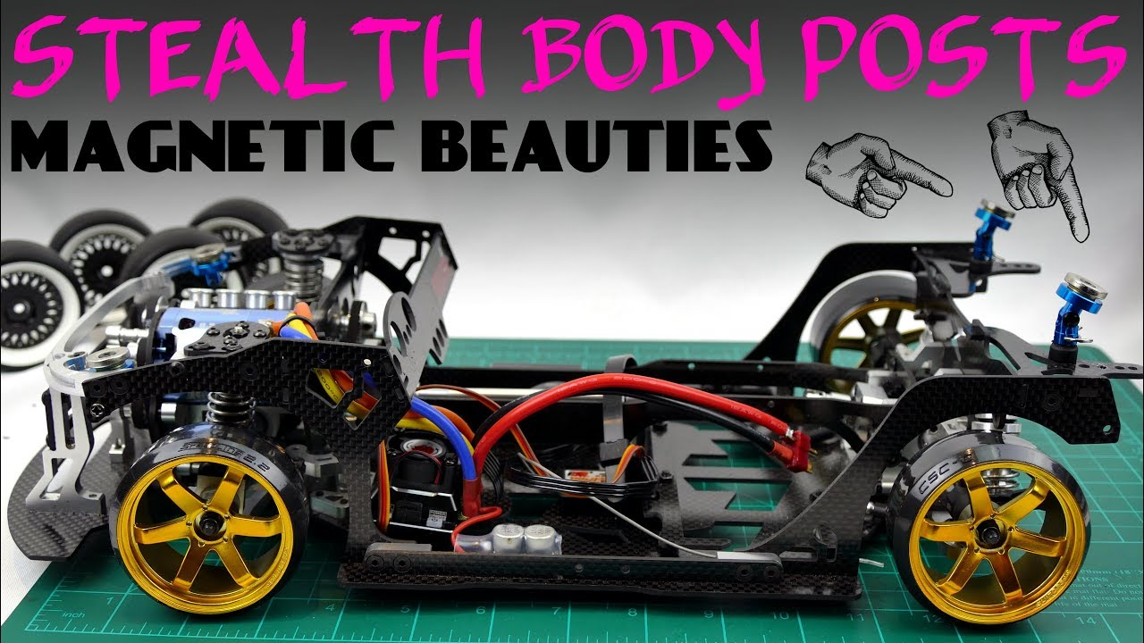 NEW 1:10 RC Car Stealth Strong Magnetic Body Shell Posts For HSP//AXIAL SCX10 GL