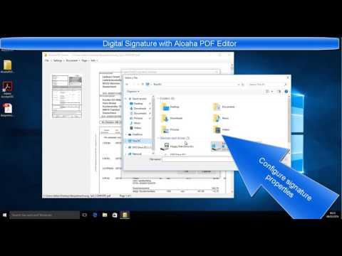 PAdES Digital Signatures with Aloaha PDF Editor – Aloaha