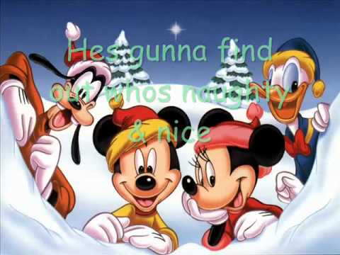 disney santa clause is coming to town funny christmas cartoons