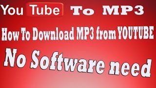 Download tutorial: how to download youtube as mp3 - download mp3 from youtube - download youtube audio [HD]