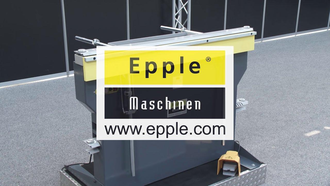 epple maschinen magnetische abkantbank produktfilm youtube. Black Bedroom Furniture Sets. Home Design Ideas