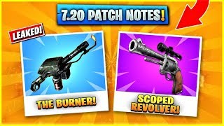 FORTNITE V7.20 PATCH NOTES - 7.20 PATCH NOTES in FORTNITE! (Glider Redeploy ITEM & Scoped Revolver)