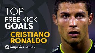 BEST FREE KICK GOALS Cristiano Ronaldo LaLiga Santander