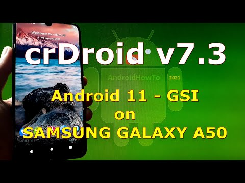 crDroid v7.3 Android 11 for Samsung Galaxy A50 - GSI ROM
