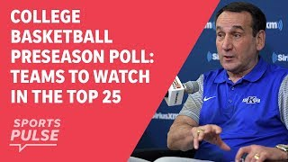 College basketball preseason poll: teams to watch in the top 25