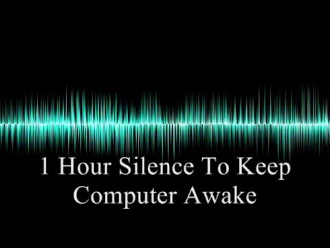 1 Hour silence (in stereo) - Keep your computer awake