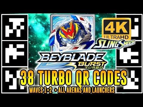 ALL 38 TURBO QR CODES BEYBLADE BURST TURBO APP (WAVES 1+2) EM 4K!