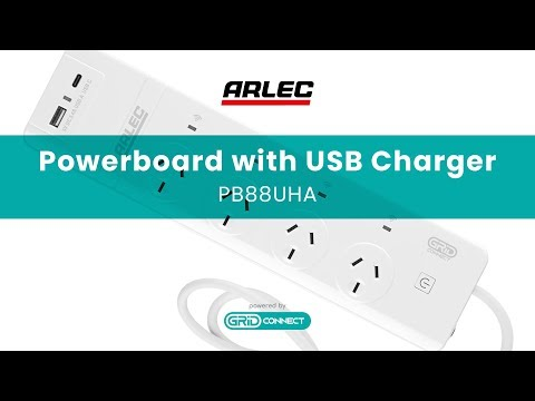 ARLEC : PB88UHA Smart 4 Outlet Powerboard With USB Charger – Setup And User Guide