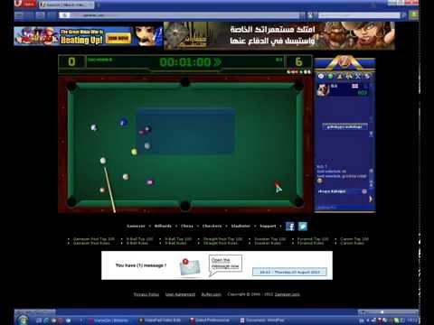 """gamezer.com billiard User: """"GeO mUeScA"""" """"Room 10"""""""