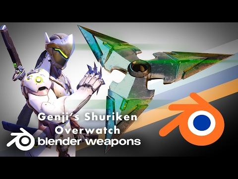 Overwatch - Genji Shuriken - BLENDER WEAPONS (Blender)