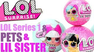 LOL Surprise |Learn English with Surprise Dolls |Series 1, PETS, LIL SISTERS|Youtube KIDS CHANNEL