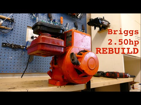 2.50hp Briggs And Stratton Engine REBUILD Pt. 1!