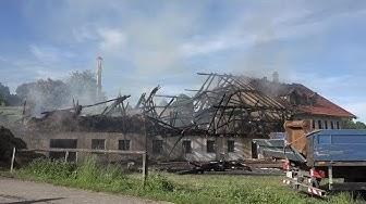 Brand eines Bauernhofs in Dürnhausen bei Habach am 28.05.2017