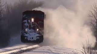 Train Snow Plow Compilation  Amazing Powerful Trains Plowing Snow 2018
