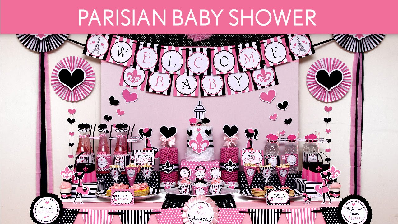 Parisian Baby Shower Party Ideas // Parisian   S47   YouTube