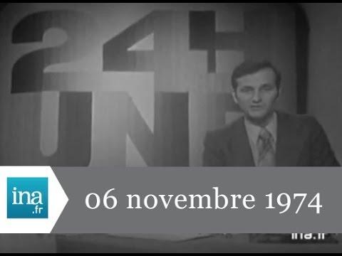 JT 20H ORTF du 6 novembre 1974 - archive INA