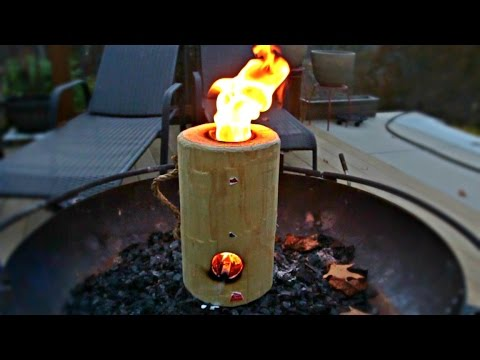 Log Rocket Stove Review - YouTube