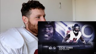 Rugby Player Reacts to JULIO JONES (WR, Falcons) #9 The NFL's Top 100 Players of 2019!