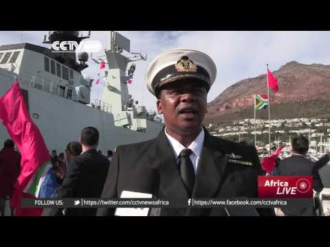 Chinese navy fleet visits Cape Town