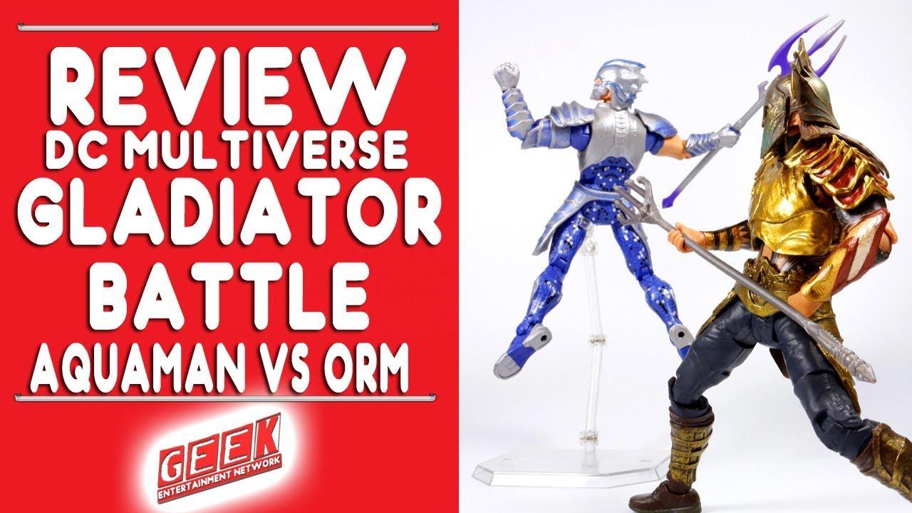 DC Comics Multiverse Gladiator Movie Battle Aquaman vs Orm Action Figures
