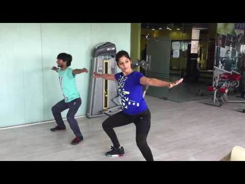 aerobics dance on Bollywood Mashup
