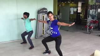 aerobics dance on Bollywood Mashup