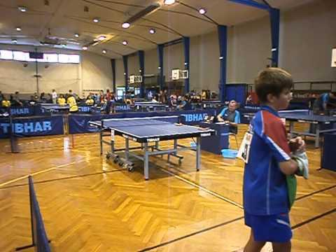 EURO MINI CHAMPS 2013 Table tennis Sidorenko V 1 этап  3 игра с французом 3 1