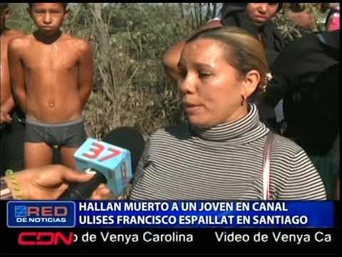 Hallan muerto a un joven en canal Ulises Francisco Espaillat en Santiago