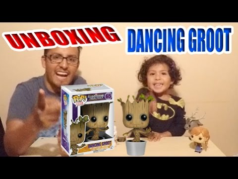 Funko POP! Marvel: Dancing Groot Hot Topic exclusive Funko Pop Unboxing