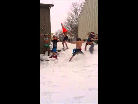 Harlem Shake in the Snow Yo
