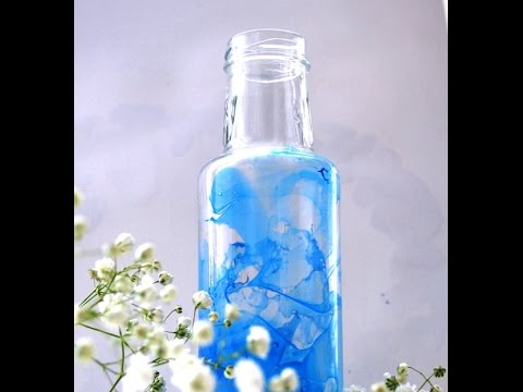 how to marble paint glass bottles - How To Paint Glass Bottle
