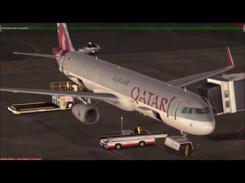 Qatar A321 A7 NEO Dubai to Doha